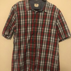 Vans XL button down short sleeve tee